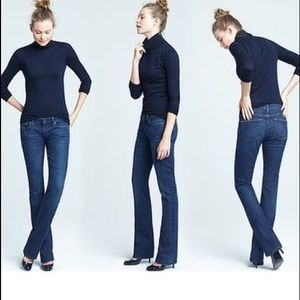 J Crew stretch bootcut jeans in dark rinse